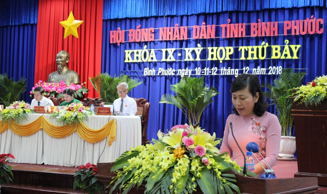 PCT UBND tinh Huynh Thi Hang