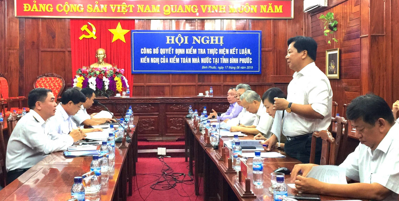 Công bố quyết định kiểm tra của Kiểm toán Nhà nước tại tỉnh Bình Phước