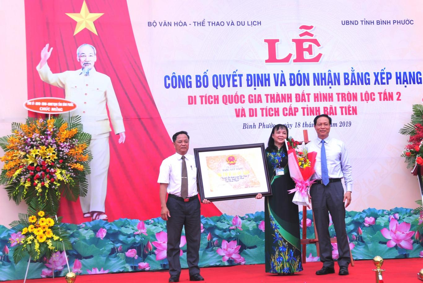 Công bố xếp hạng di tích khảo cổ quốc gia Thành đất hình tròn Lộc Tấn 2, Di tích khảo cổ cấp tỉnh Bãi Tiên