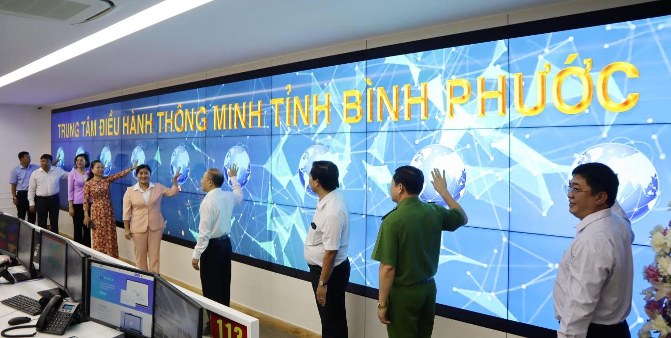 Bình Phước vận hành chính thức Trung tâm Điều hành thông minh tỉnh