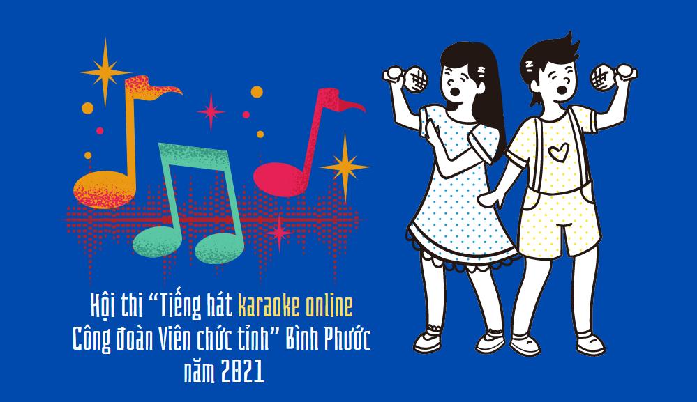 """Hội thi """"Tiếng hát karaoke online Công đoàn Viên chức tỉnh"""" năm 2021"""