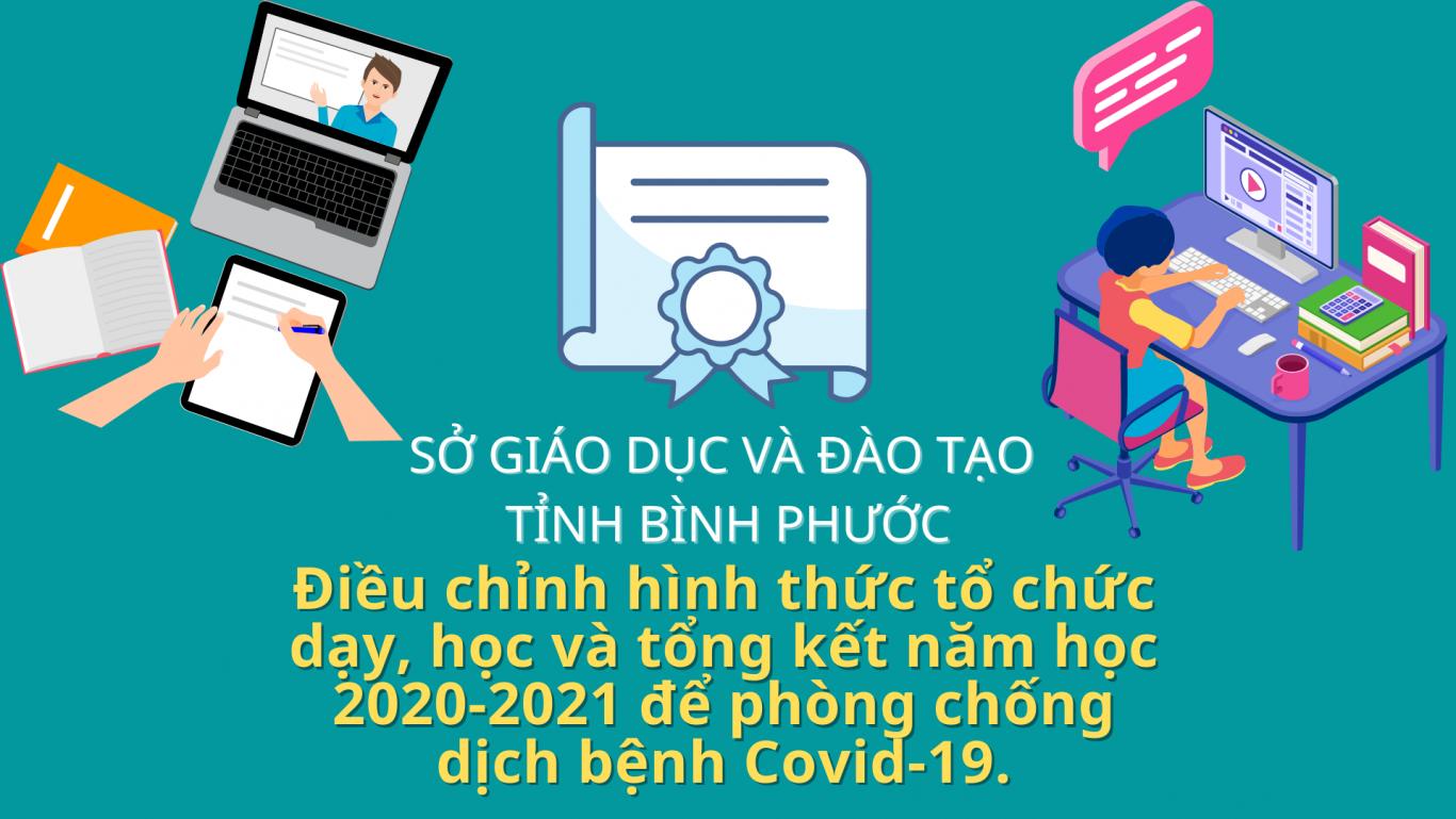 Sở Giáo dục và Đào tạo điều chỉnh hình thức tổ chức dạy, học, tổng kết năm học 2020 - 2021